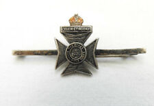 Military WW2 The King's Royal Rifle Corps Silver Sweetheart Brooch Badge (5077)