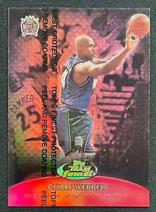 1999-00 Topps Finest Team TF13 Chris Webber RED REFRACTOR 45/50 RARE SP!