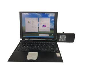 Toshiba Portege 2000 Rare Slim Laptop Windows XP Pro Pentium III 20 GB HDD OEM