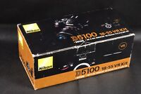 BOX ONLY FOR NIKON D5100 CAMERA & LENS 18-55MM AF-S DX F/3.5-5.6G VR KIT