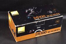Scatola SOLO PER NIKON D5100 fotocamera e obiettivo 18-55MM AF-S DX F/3.5-5.6G KIT VR