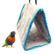 Bird Bed Hammock Hanging Cave Cage Parrot Warm Plush Tent House Snuggle Hut Tent