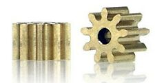 Slot.it SIP15510o15 Pinion, 10T, Inline, 5.5mm for 1.5mm Shaft, Brass, 2/pk