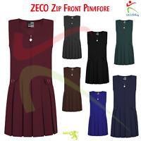 ZECO Girl Zip Front Dress Pinafore Box Kids Polyester Skirt School Uniform Wear