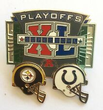 Pittsburgh Steelers LE Super Bowl XL Playoff Pin vs Indianapolis Colts