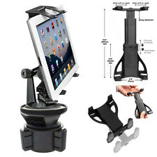 """VIBRATION FREE Car Cup Holder Mount for Apple iPad Air Mini Pro 7""""- 12.9 Tablet"""