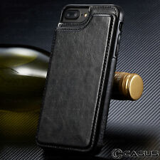 Leather Wallet Back Magnetic Flip Cover Thin Slim Case FOR iPhone X & 8/7/6 Plus