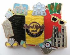 BRUSSELS ICONIC FLAG BRUSSELS, BELGUIM HARD ROCK CAFE PIN LIMITED EDITION 300
