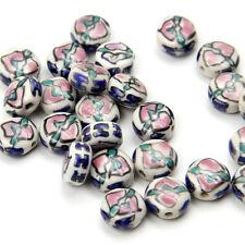20Pcs Peach Design Ceramics Porcelain Beads Finding