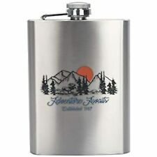New listing Ozark Trail Stainless Steel Flask Attached Cap Easy-pour Funnel (Adventure