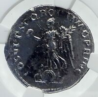 TRAJAN Authentic Ancient 103AD Rome Genuine Roman Coin VICTORY NGC i81656