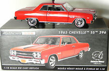Ertl 1:18 1965 Chevy Chevelle SS396 diecast model American Muscle Authentics Red