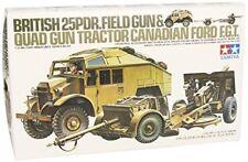 TAMIYA 1/35 British 25Pdr. Field Gun & Quad Gun Tractor (Canadian Ford FGT) Kit