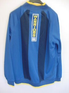 NBA*WARRIORS BLUE/YELLOW*WARM-UP JACKET*MEN'S LARGE*VERY NICE*NEW WITH TAGS