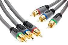 1.2m RGB Component Video HD Cable Lead YpbPr GOLD 4 feet   Rocketfish  RF-G1207