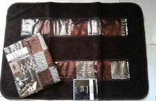 """Popular Bath Elite Orb Fabric Shower Curtain 70""""x72"""" & Bath Mat"""