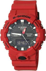 Casio G-Shock Analog-Digital Quartz 200m Red Resin Watch GA800-4A