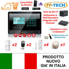 ANTIFURTO ALLARME TOUCH SCREEN CASA KIT COMBINATORE GSM WIRELESS SENZA FILI APP