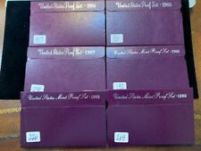 US Coins(6) Proof Sets(1984,1985,1987,1988,1989,1990) Sold as a single lot