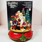 Santa's Best  Animated Music Box Plays Santa Claus Is Coming To Town 1992 In Box