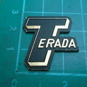 TERADA guitar head stock logo in metal (Japanese)
