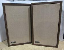 """RARE Vintage Pair of Advent 1 Loud Speakers 10"""" Woofer 3"""" Tweeter Tested/Working"""