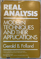 """""""Real Analysis: Modern Techniques and Their Applications"""" Gerald Folland 1984"""