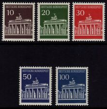 W Germany 1966-68 Brandenburg Gate SG 1412/1415a MNH (Cat £16)