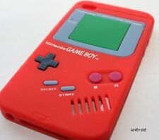 iPod Touch 4th Gen -SOFT SILICONE RUBBER GUMMY GEL CASE COVER RED GAMEBOY PLAYER