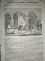 Upnor Castle 1834 old print and article