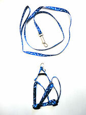 Small dog harnesses n dog leash step in dog harness Pet Collar Accessories Blue