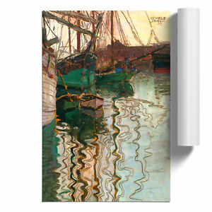 Egon Schiele Boats in Port Poster Print Wall Art Unframed Picture Home Décor