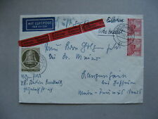 GERMANY BERLIN, expresse cover 1952, mixed franking ao pair 40 Pf building