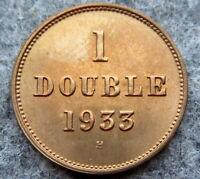 GUERNSEY 1933 H DOUBLE, UNC