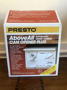 Presto AboveAll Under Cabinet Automatic Can Opener Plus 05600 VINTAGE
