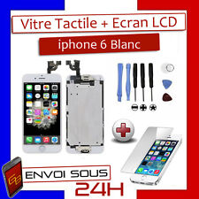 VITRE TACTILE + ECRAN LCD IPHONE 6 BLANC COMPLET SUR CHASSIS + OUTILS + FILM KDO
