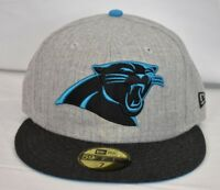 New Era 59Fifty Mens NFL Carolina Panthers Fitted Hat Cap NWT Pick Size
