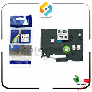 Nastro per Etichettatrice Brother p - Touch 12 mm 1000 H 107 105 compatibile TZe