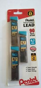 Hi Polymer mechanical Pencil Lead 0.7mm 3 pack same as a number 2 pencil