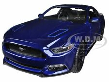 2015 Ford Mustang Gt 5.0 Blue 1/18 Diecast Car Model By Maisto 31197