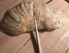 Antique Ostrich Feather Hand Wedding Fan
