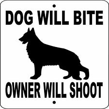 "GERMAN SHEPHERD DOG SIGN,9"" x 9"" ALUMINUM,NO TRESPASSING,Gate,Fence,DWBOWS9X9"