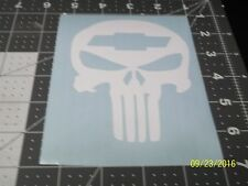 """Punisher Skull with Chevy 5"""" Vinyl Decal sticker laptop windows wall car boat"""