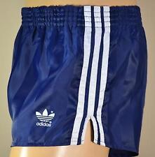 ADIDAS Glanz Nylon Shorts!!!  Vintage Short Sporthose Dunkelblau-Gr.:M-5  (897)