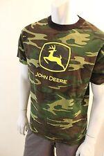 Large Camo John Deere camo t shirt tractor farm equipment advertizing