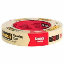 """Scotch 2050.1 Masking Tape, 1""""X 60 Yd, Crepe Paper Backing, Beige, Rubber Adhes"""