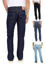 LEVIS Men's 501 Denim Jeans Dark Indigo Black Blue Lightwash Marlon Red Tab levi