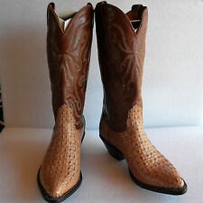 New NOCONA 7 EE Horned Alligator Sand Color Made in USA Cowboy Boot OLD STOCK