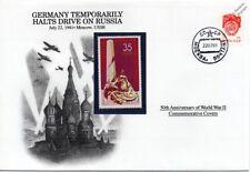 La segunda guerra mundial 1941 Alemania temporalmente detiene unidad en cubierta de sello de Rusia (Danbury Mint)