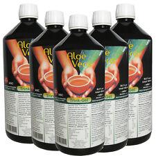 Aloe Vera Trinkgel 99.5% natur, Mexiko, IASC Qualität, 5x 1 Liter Flasche #30002